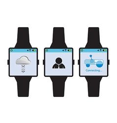 new generation smart watch concept vector image vector image