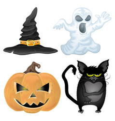 set of halloween characters vector image
