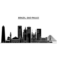 brazil sao paulo architecture city skyline vector image vector image