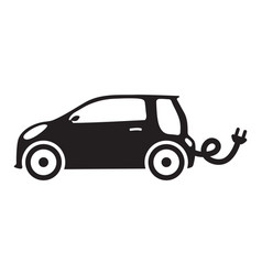car ecology isolated vehicle green silhouette icon vector image vector image