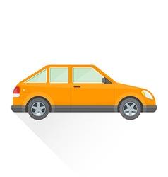 flat orange hatchback car body style icon vector image