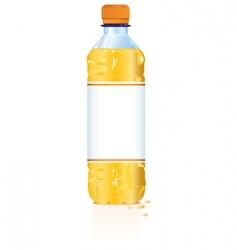 plastic drink bottle vector image