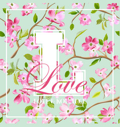 spring flowers graphic design for t-shirt vector image vector image