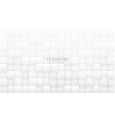 3d squares white abstract background vector