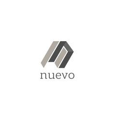abstract creative shape logo design template vector image