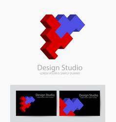 abstract isometric logotype vector image