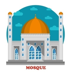 Arabian islam muslim mosque with domes vector