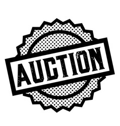 auction stamp on white vector image