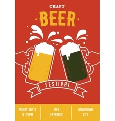 Beer festival event poster vector