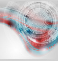 blue and red technology sci-fi abstract background vector image