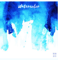 Blue indigo watercolor texture background vector