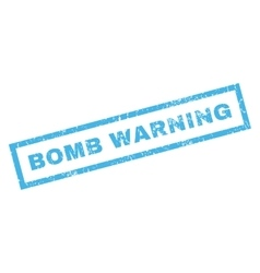 Bomb Warning Rubber Stamp vector