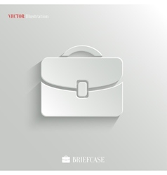 Briefcase icon - web background vector image