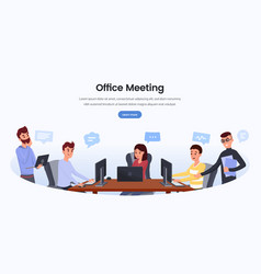 business development team landing page template vector image