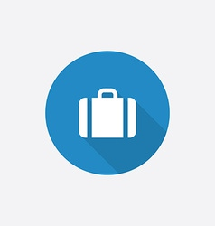 Case Flat Blue Simple Icon with long shadow vector image
