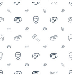 Chop icons pattern seamless white background vector