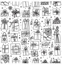 Christmas presents seamless pattern vector