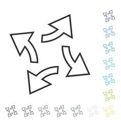 Circular exchange arrows icon vector