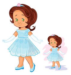 Clip art with young girl in vector