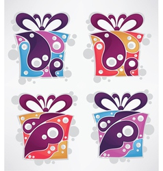 Collection of present and gift boxes vector