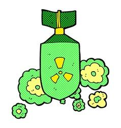 comic cartoon nuclear bomb vector image