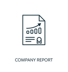 company report outline icon thin line concept vector image