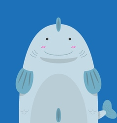 cute big fat fish vector image