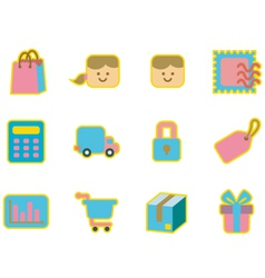 cute icon shopping vector image