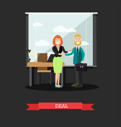deal concept in flat style vector image