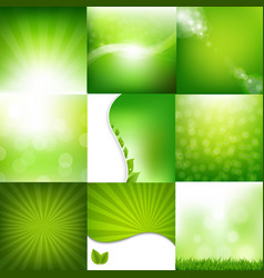 eco nature set banners vector image