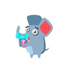 Elephant Party Animal Icon vector