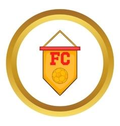 Flag football team icon vector