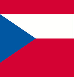 flag of the czech republic official state symbol vector image