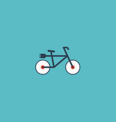 flat icon electric bike element vector image