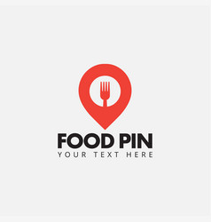food pin logo design template isolated vector image