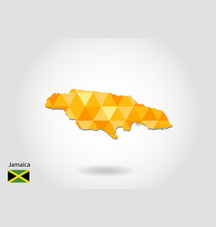 geometric polygonal style map of jamaica low poly vector image