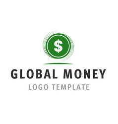 global money logo template vector image