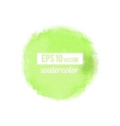 Green watercolor stain vector image