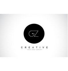 Gz g y logo design with black and white creative vector