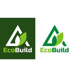 Home building logo and symbols eco real estate vector