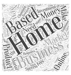 How To Work From Home And Make Money Online Word vector image