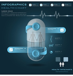 Human Pill Capsule Health And Medical Infographic vector