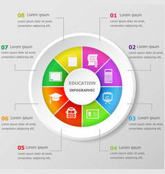 Infographic design template with education icons vector