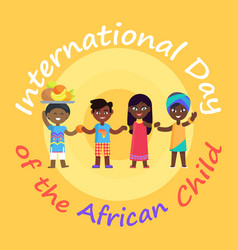 International day of african child advertisement vector