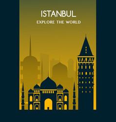 istanbul city turkey vector image