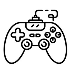Joystick icon outline style vector