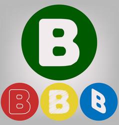 Letter b sign design template element 4 vector