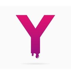 Letter Y logo or symbol icon vector image