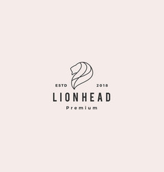 lion head logo icon line outline monoline vector image