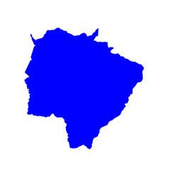 Map of mato grosso do sul vector